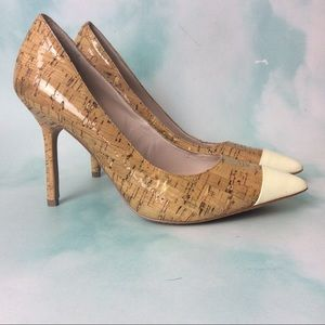 Nice Camuto Cork H else with Pointed Toe Cap 6.5